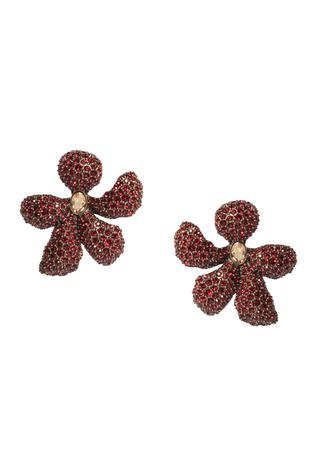 Floral shaped crystal studs