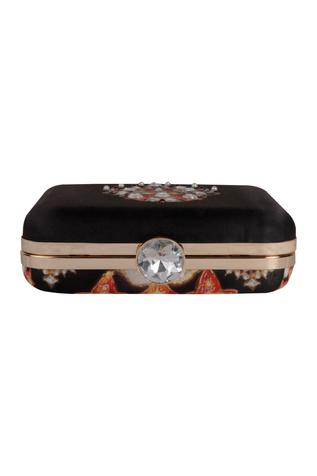 Zardozi & hand pearl embroidered clutch