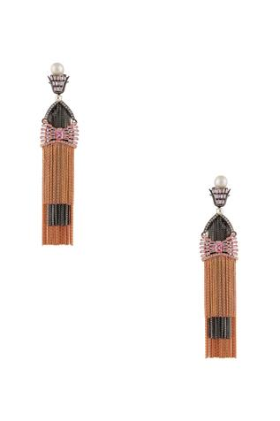 Birdwing tassel earrings