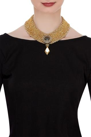 Choker with antique pendant