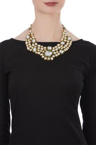 Polki bead & pearl statement necklace