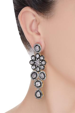 Dramatic floral victorian earrings