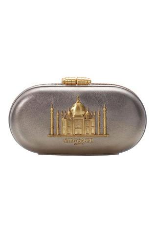 Cashmere Leather Taj Clutch