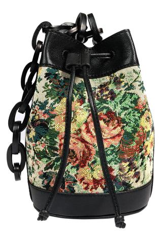 Floral Embroidered Bucket Bag