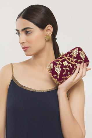 Embroidered Clutch with Sling