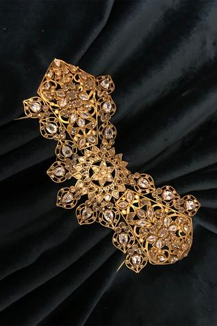 Cutwork Stone Hair Pin