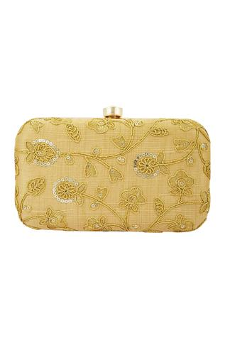 Nayaab by Aleezeh Floral Box Clutch with Sling