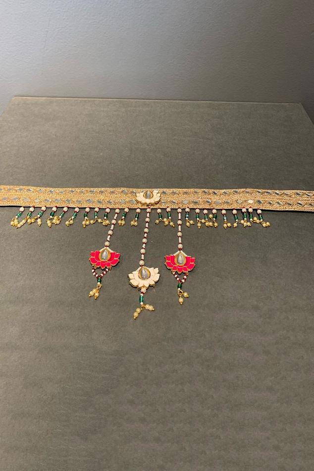 Banarasi Silk Meenakari Kundan Belt