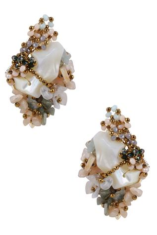 Bead Statement Stud Earrings