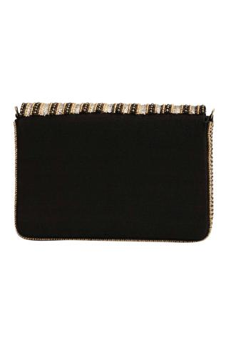 The Purple Sack  Sequin Flap Clutch with Sling