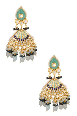 Kundan Bead Drop Danglers