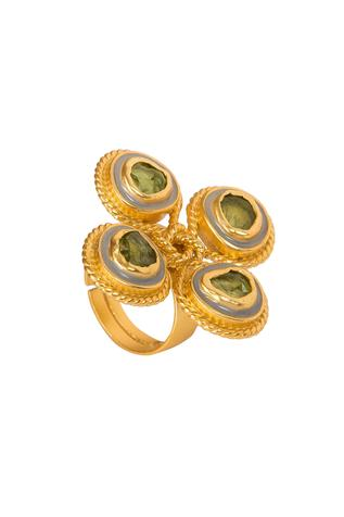 Stone Knotted Enamel Ring