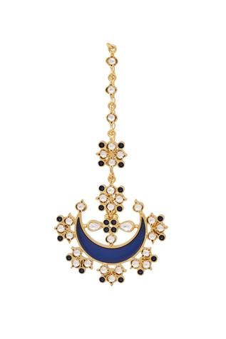 Blue Enamel Chandbali