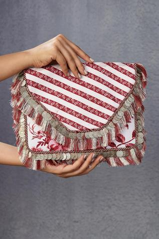 Handwoven Chanderi Flap Clutch