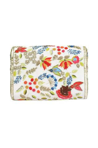 Chanderi Tassel Flap Clutch