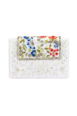 Chanderi Flap Box Clutch