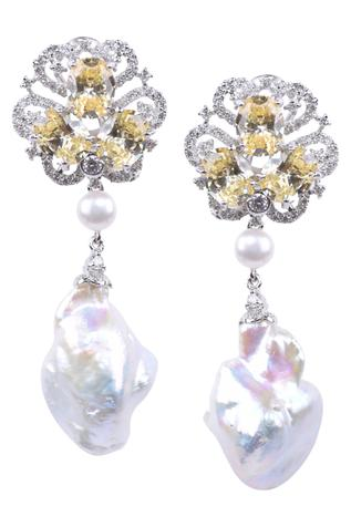 Floral Stone Danglers