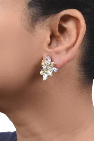 Floral Stone Studs