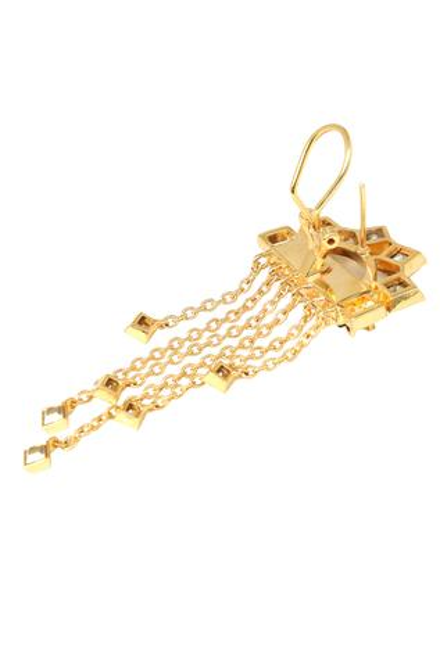 Crystal Chain Brooch