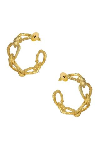 Hammered Link Hoops