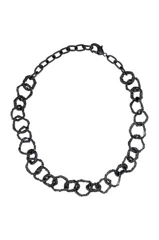 Flower Child by Shaheen Abbas Hammered Link Necklace