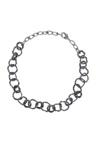 Flower Child by Shaheen Abbas Oxidized Link Necklace (Single Piece)
