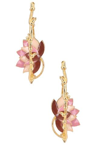 Lotus Enamel Hoops