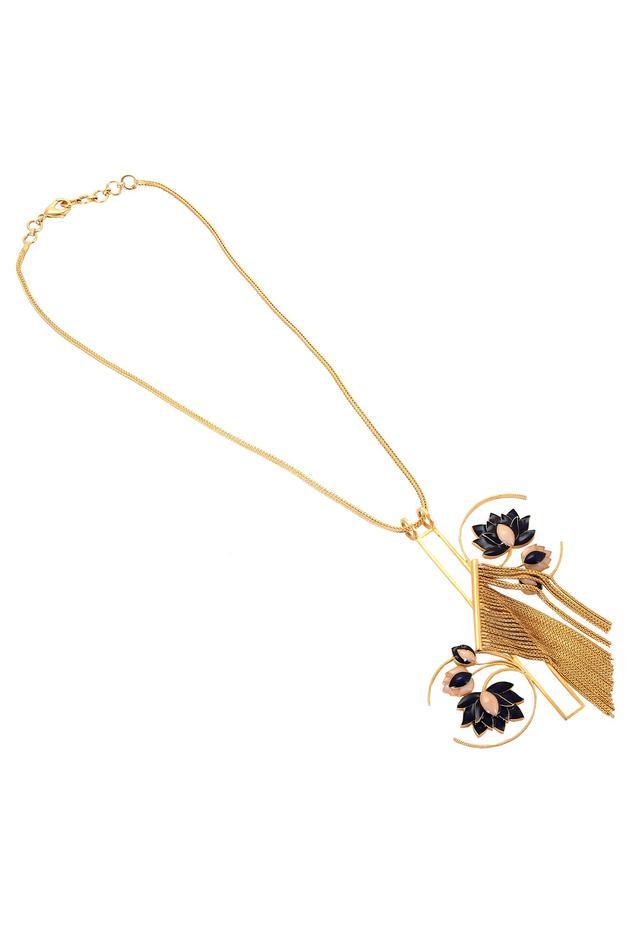 Lotus Chain Pendant Necklace