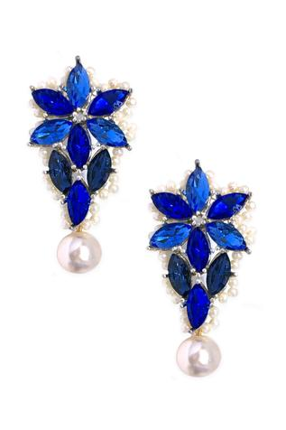Crystal Floral Statement Studs