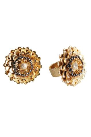 Floral Bead Ring