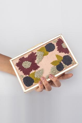 Embroidered Box Clutch