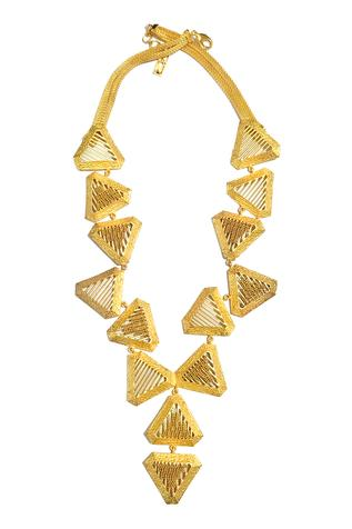 Itrana Geometric Carved Necklace