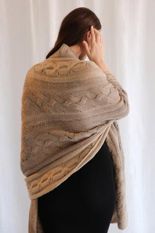 Hand Knit Cashmere Scarf
