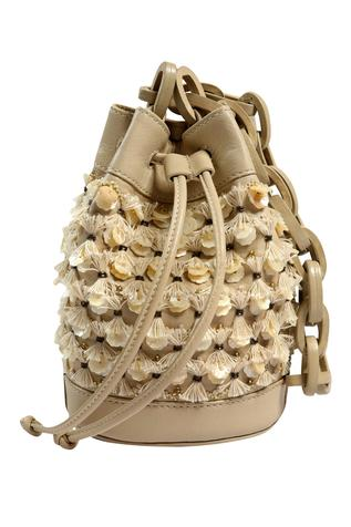 Floral Embellished Bucket Bag