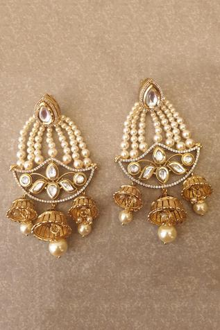 Kundan Jhumka Drop Chandeliers