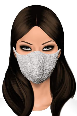 Embellished Face Mask (Single Pc)
