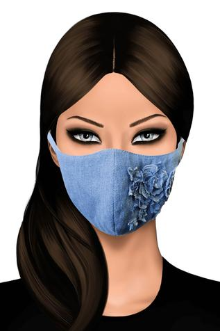 Denim Face Mask (Single Pc)
