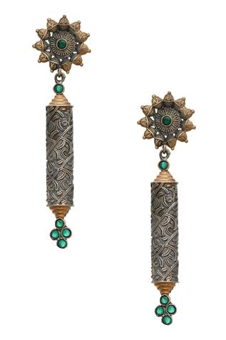 Antique Floral Stone Danglers