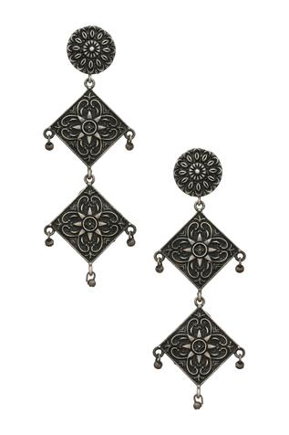 Antique Tiered Geometric Danglers