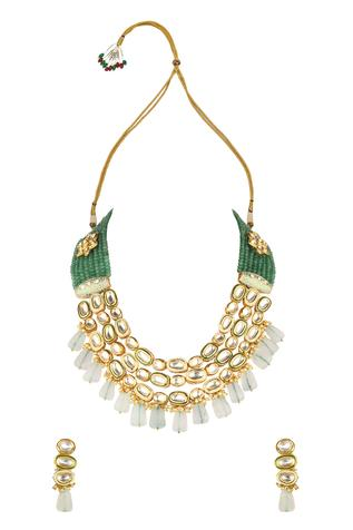 Kundan Layered Necklace Set