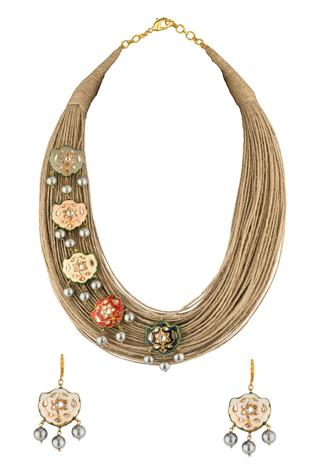 Jute Necklace Set