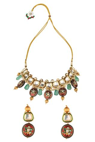 Kundan Geometric Necklace Set