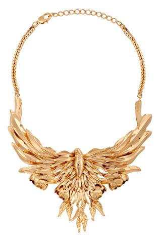 Handcrafted Bird Carved Collar Necklace