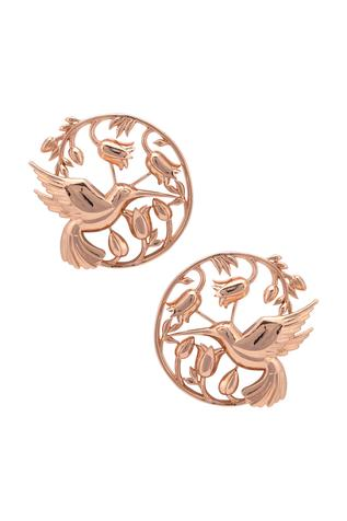 Handcrafted Floral Statement Studs