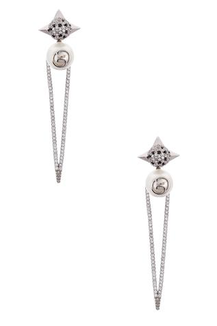 Crystal Spiked Statement Earrings