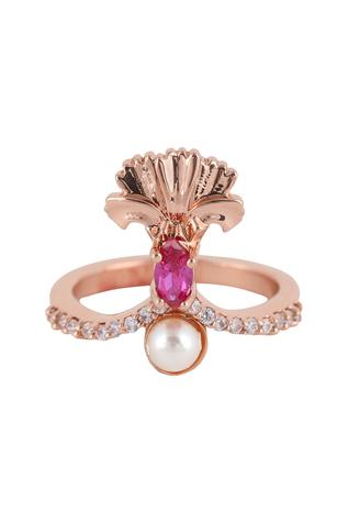 Opalina Soulful Jewellery Floral Stone Ring