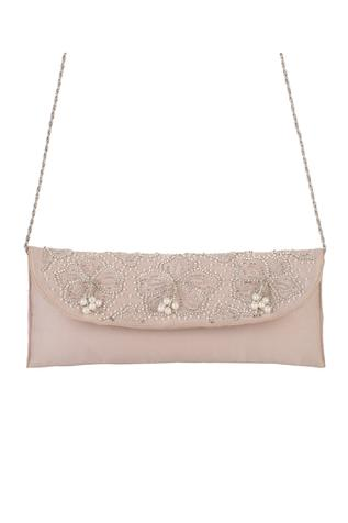 Silk Embroidered Flapover Sling Bag