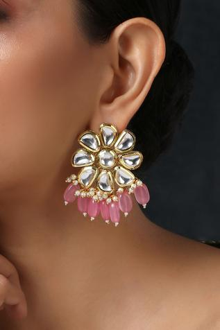 Floral Kundan Earrings