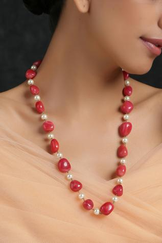 Bead Long Necklace