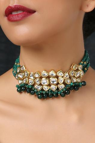 Kundan Choker with Bead Drops